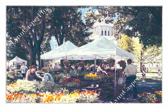 & Wisconsin Hertiage Fine Arts: Market Canopies and Madison Capitol